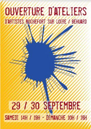 Ouverture d'Ateliers d'Artistes – Rochefort sur Loire – Behuard-29 et 30 septembre